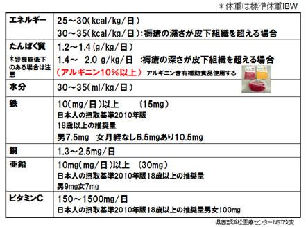 表1 NST褥瘡栄養管理指標